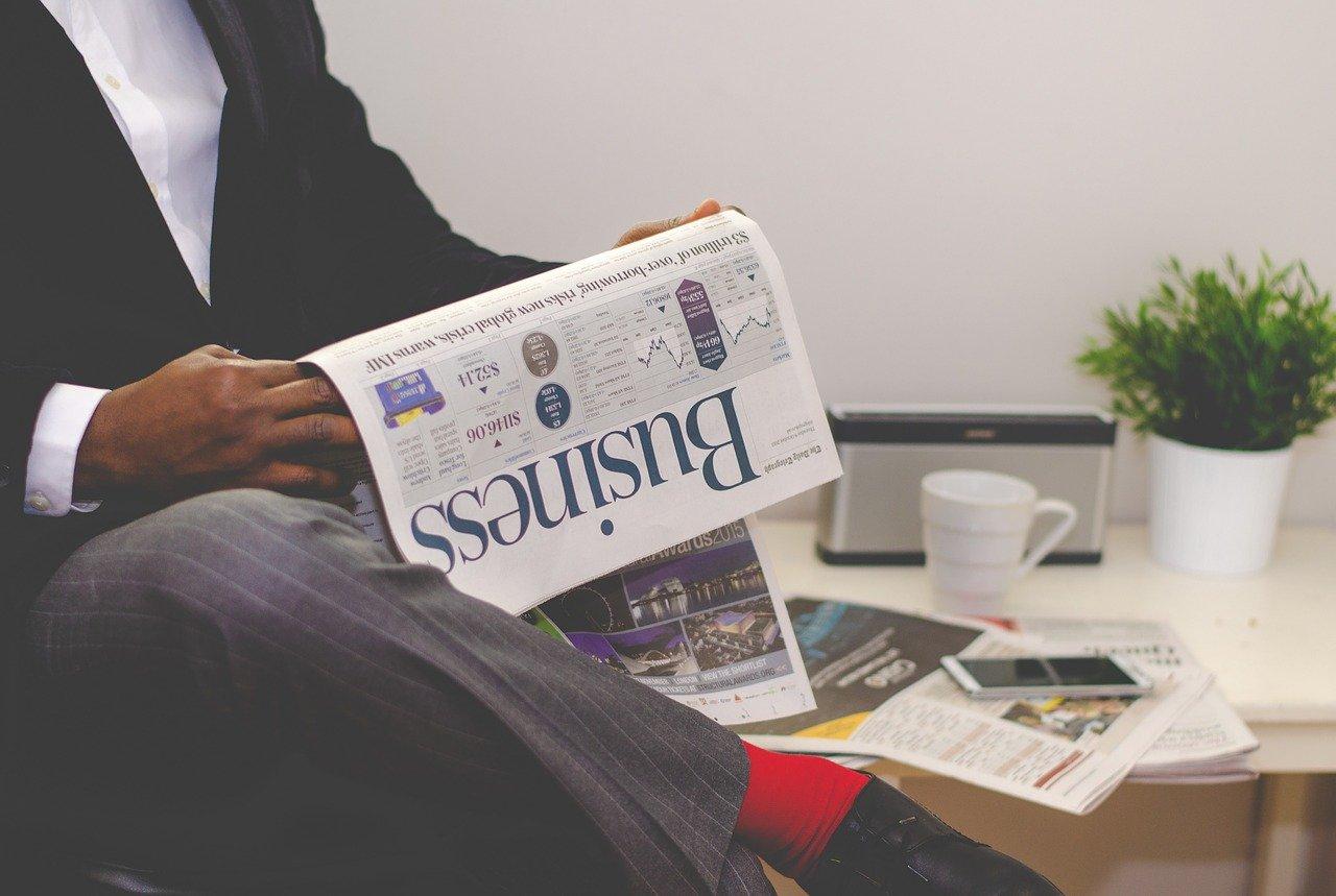business man, newspaper, business